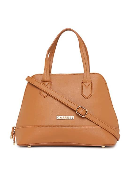 caprese tan brown solid handheld bag