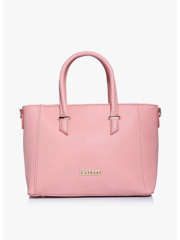 caprese porsche pink medium tote bag