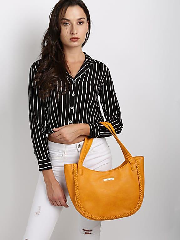 caprese yellow solid tote bag