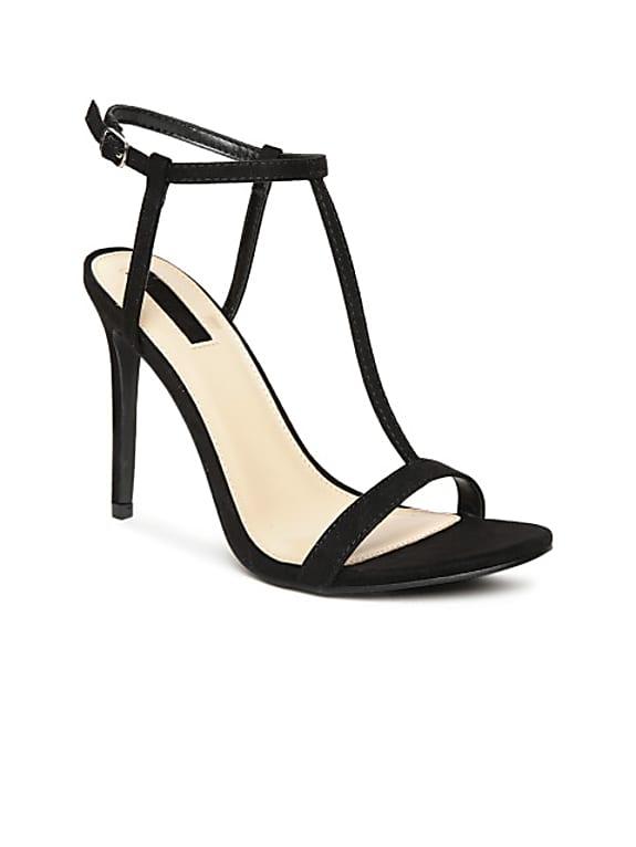 women black solid sandals
