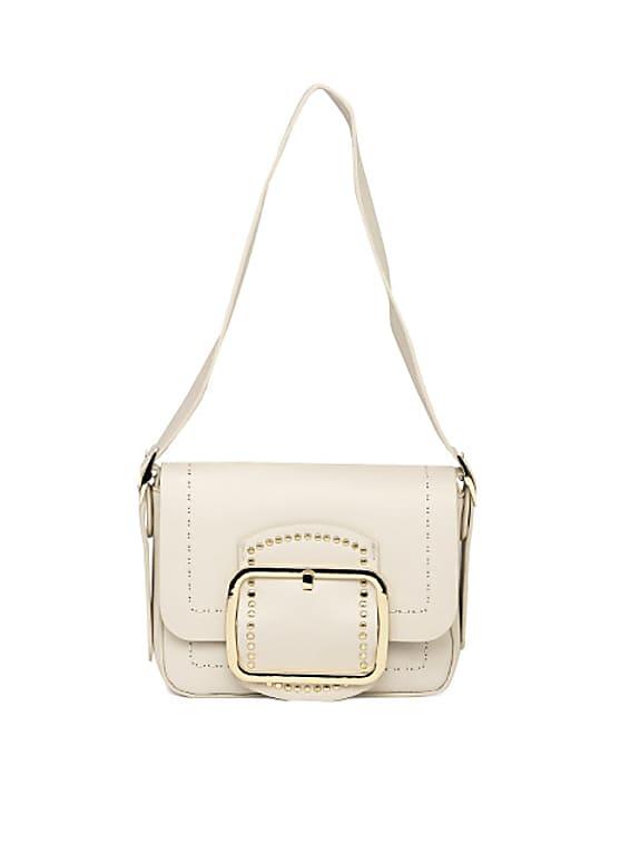 white solid small shoulder bag