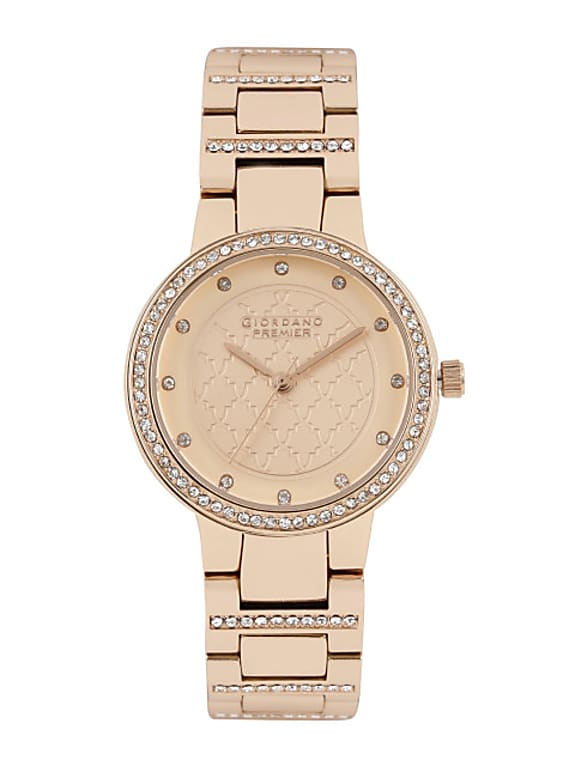 women rose gold-toned dial watch