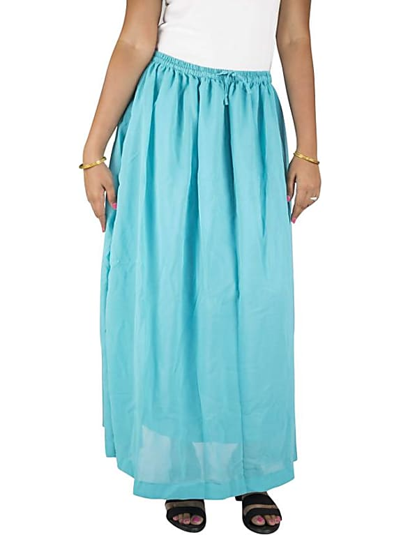 go for  women's regular blue skirt
