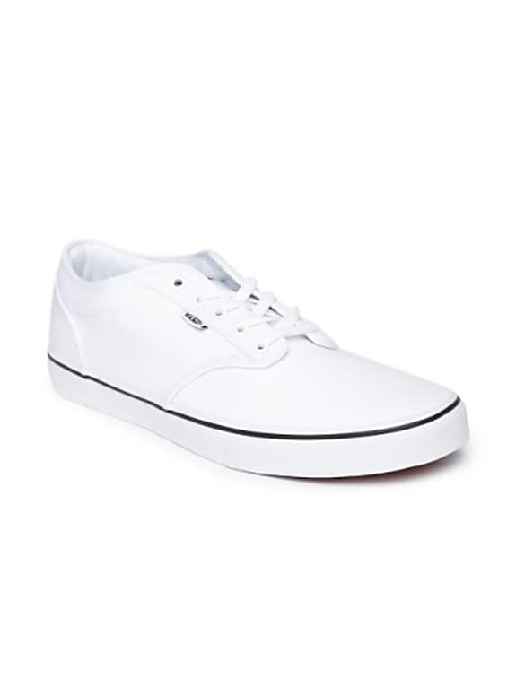 vans men white atwood sneakers