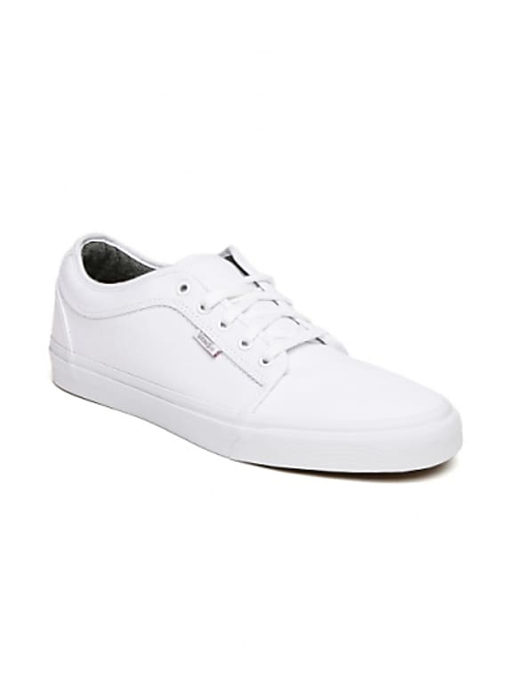 vans men white low sneakers