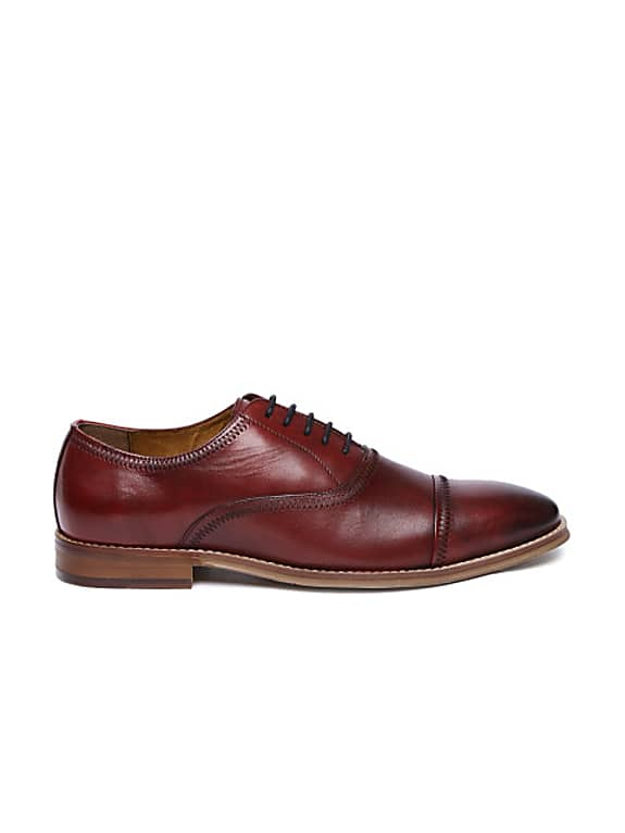 men red vesey leather oxford shoes