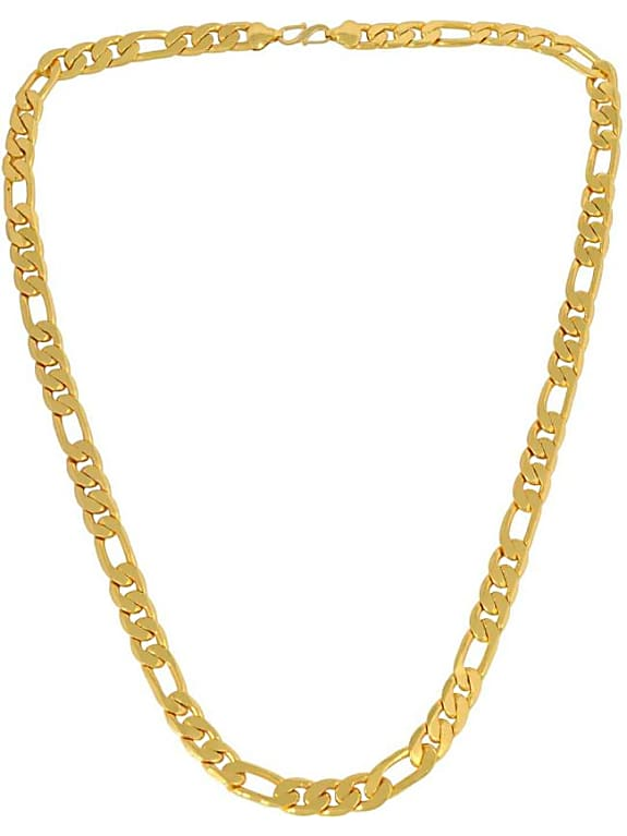 yellow gold plated brass chain