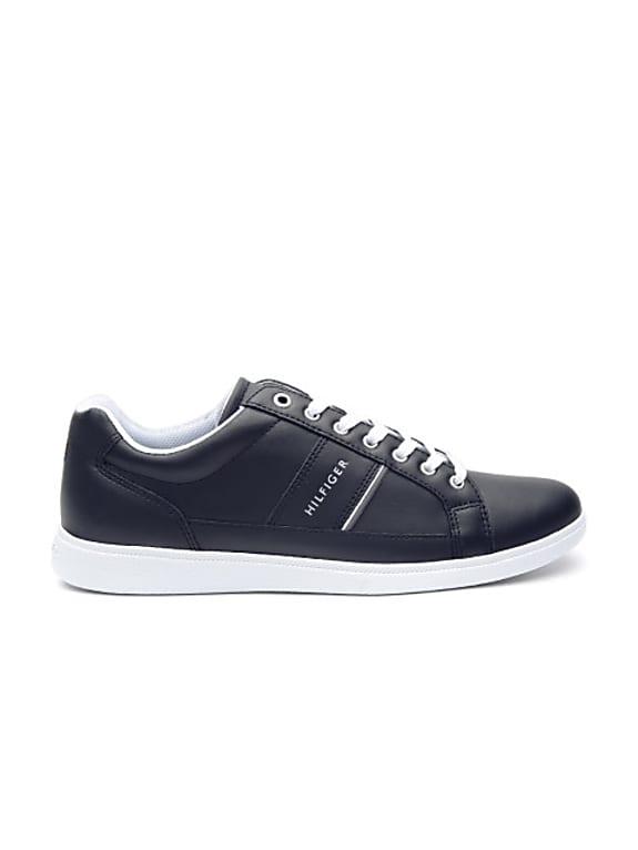 men black leather sneakers