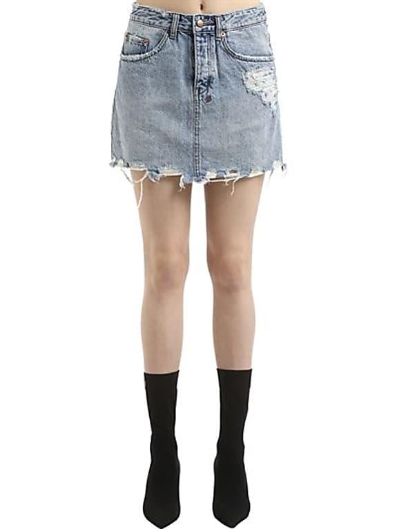 go for ksubi moss super freak denim mini skirt