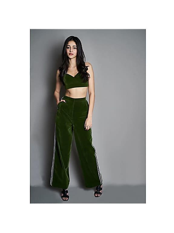 women crop top with trouser by kanikagoyallabel