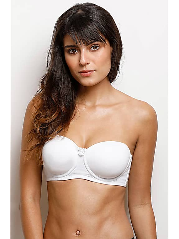zivame padded underwired strapless bra