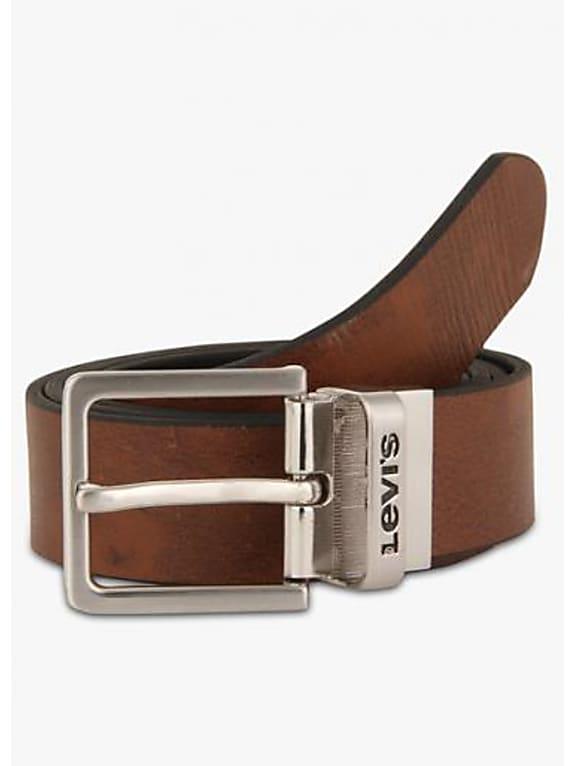 levi\'s brown leather belt