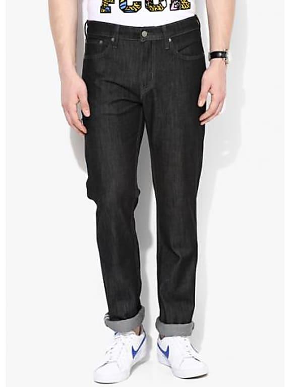 levi\'s black solid slim fit jeans