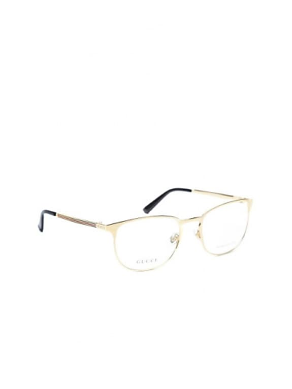 gucci gold-toned square frames