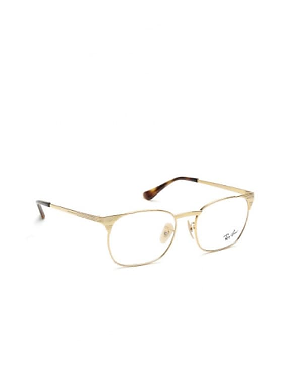 ray-ban men gold-toned square frames