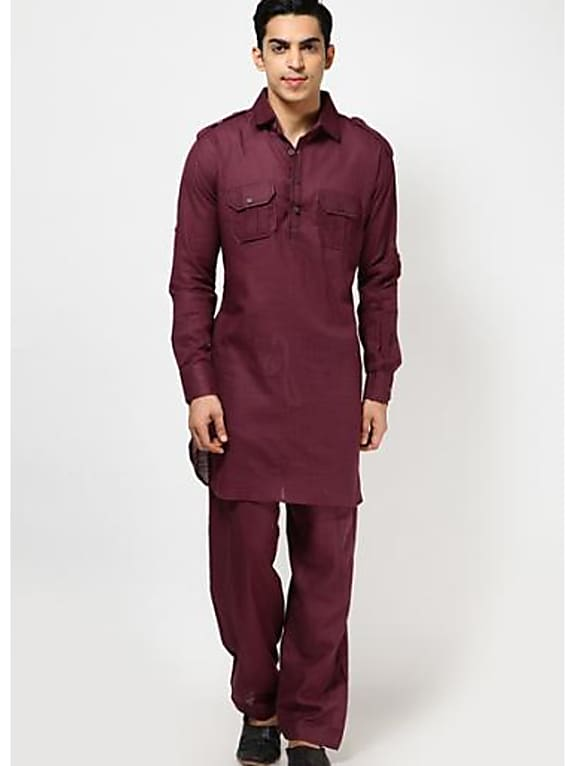 pathani suit - maroon