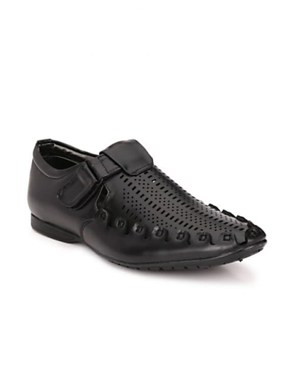 afrojack men black closed sandals