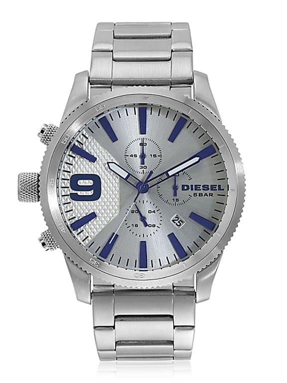 rasp serie dz4452 silver chronograph watch