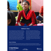ChildHope Story Poster 2