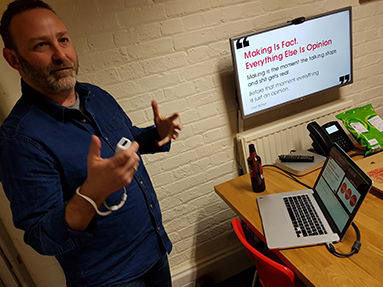 David Burton talking about learning through making