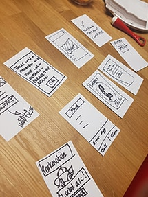 Interactive session using cards