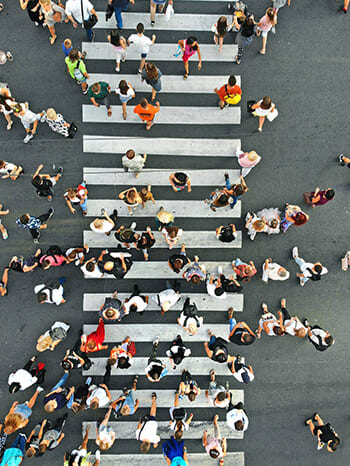 View_from_top_people_crossing