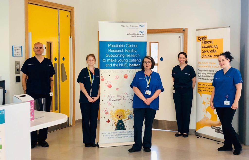 Nurses at Alder Hey Children's Hospital site, funded by the DMD Hub project
