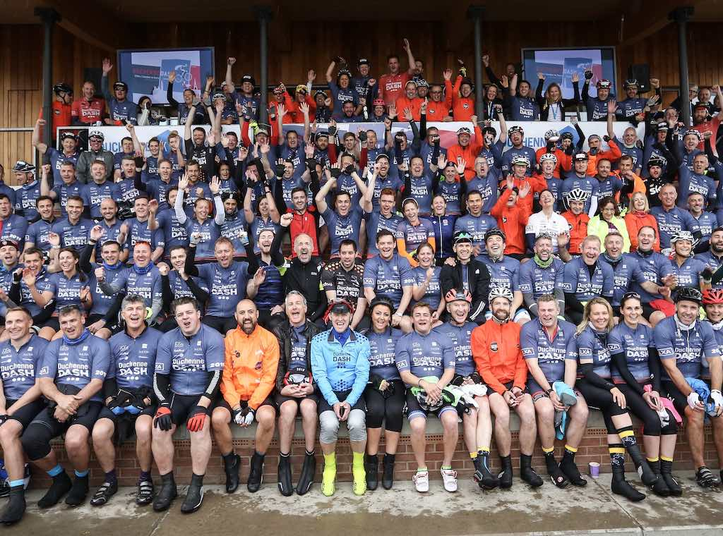 A crowd of Dashers at the Duchenne Dash 2019