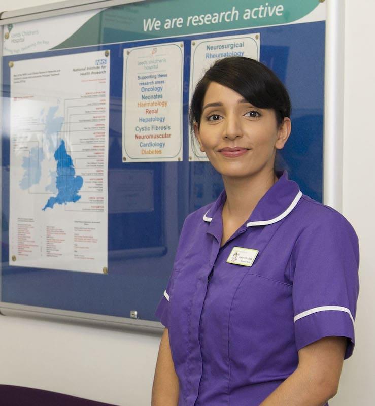 A nurse from Leeds Children's Hospital