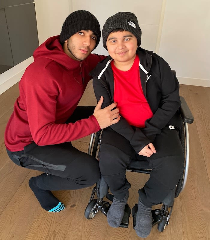 Roan and his brother Raul, who has DMD