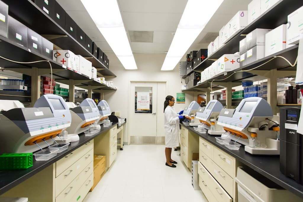 A lab technician in a research lab