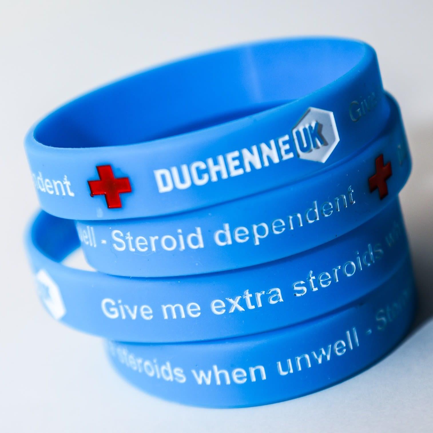 Duchenne UK Steroid wristbands