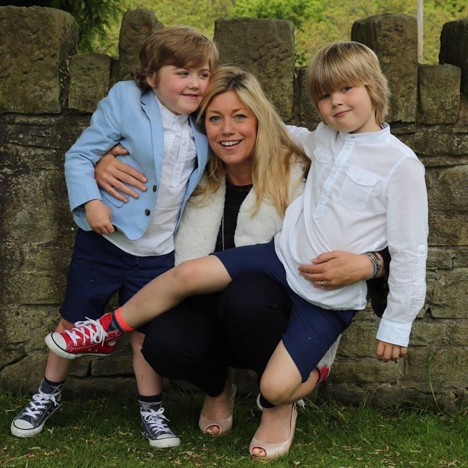 Lisa Kuwald and sons