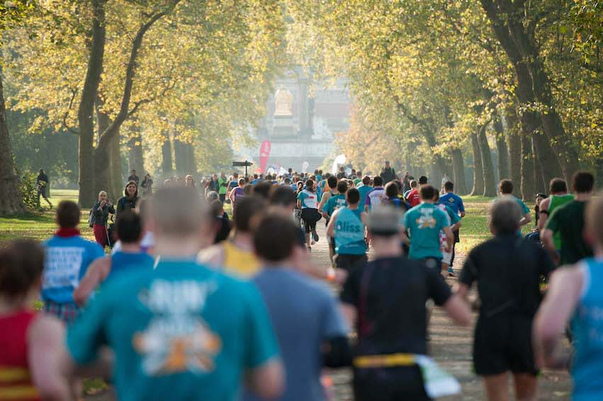 Royal Parks Half marathon runners