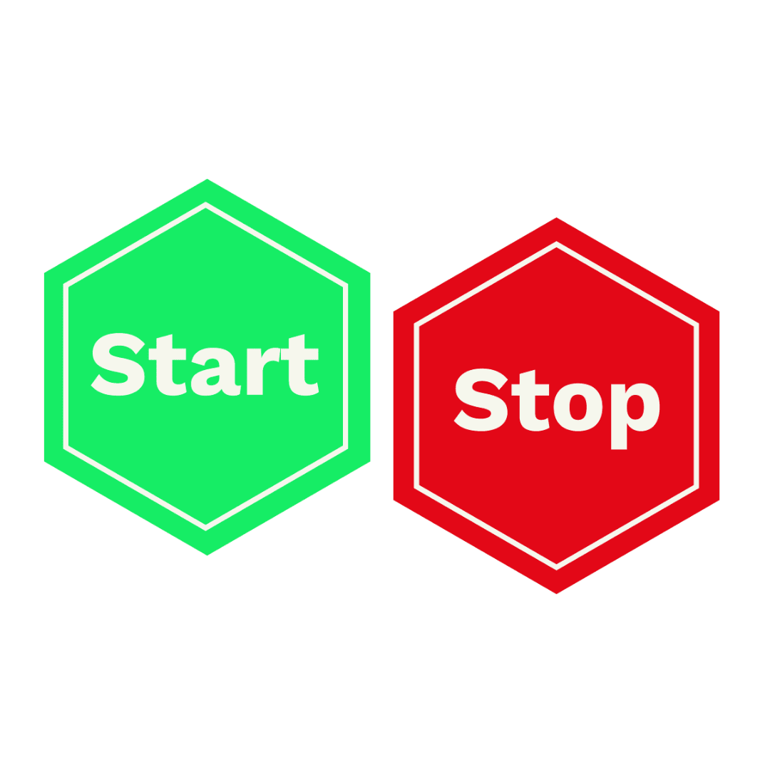 Start Stop logo square