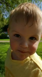 Zach aged three
