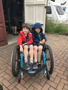 Archie and his brother Freddie from Family Fund Arhcie's March