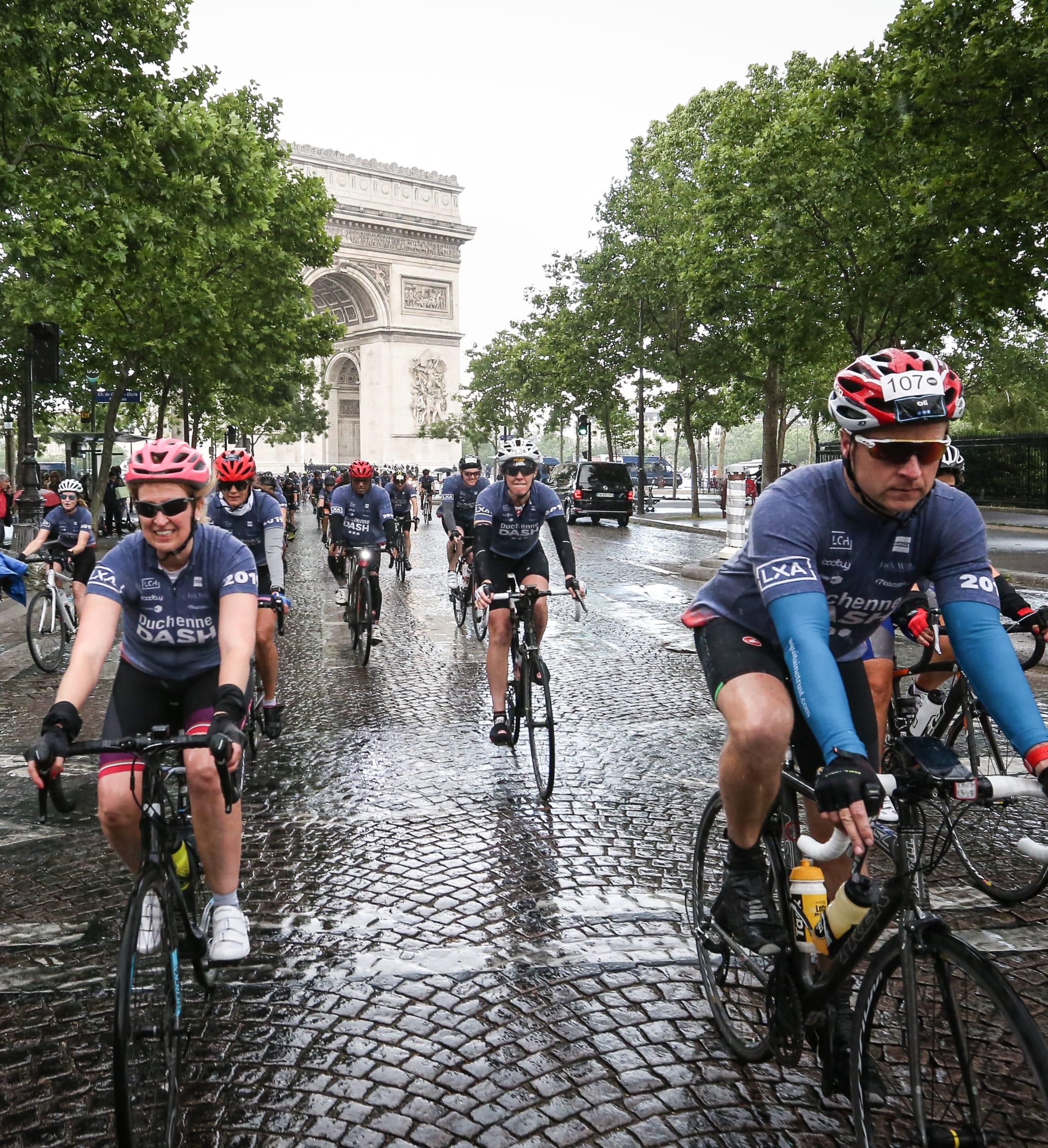 Duchenne Dash riders in Paris