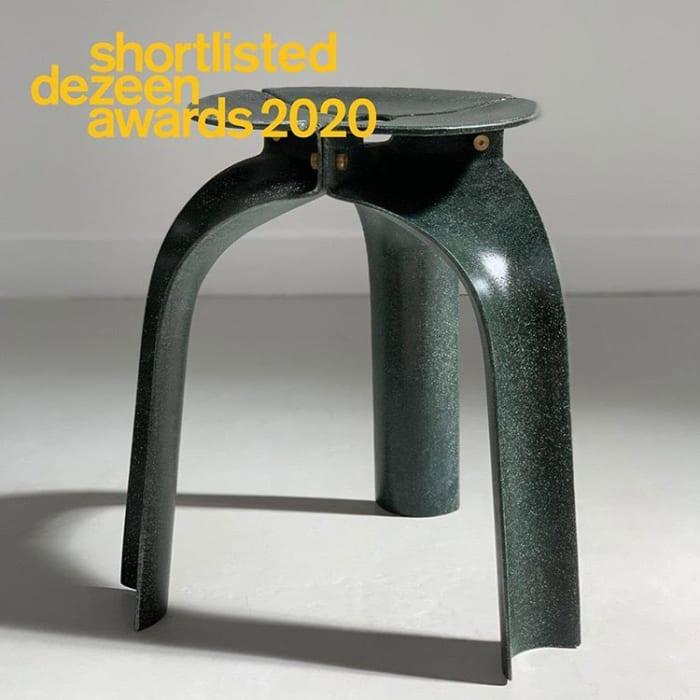 Studio RYTE's Flax Fiber Triplex Stool has been shortlisted for Dezeen Awards 2020
