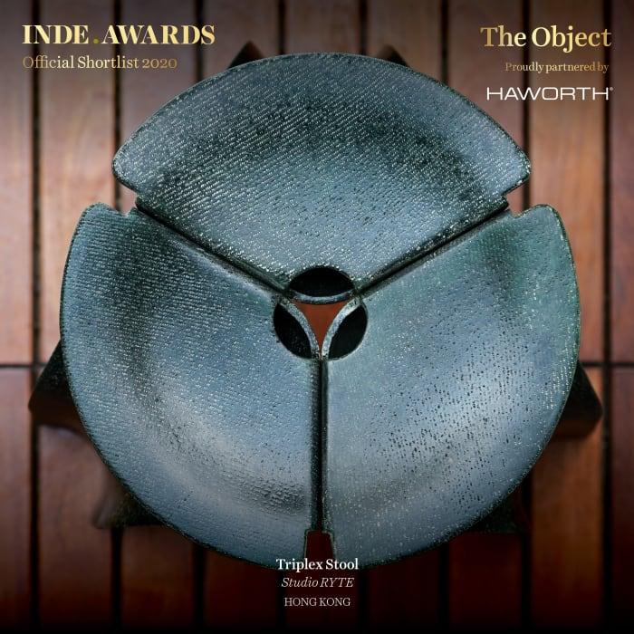 INDE Awards 2020 Flax Fiber Triplex Stool by Studio RYTE