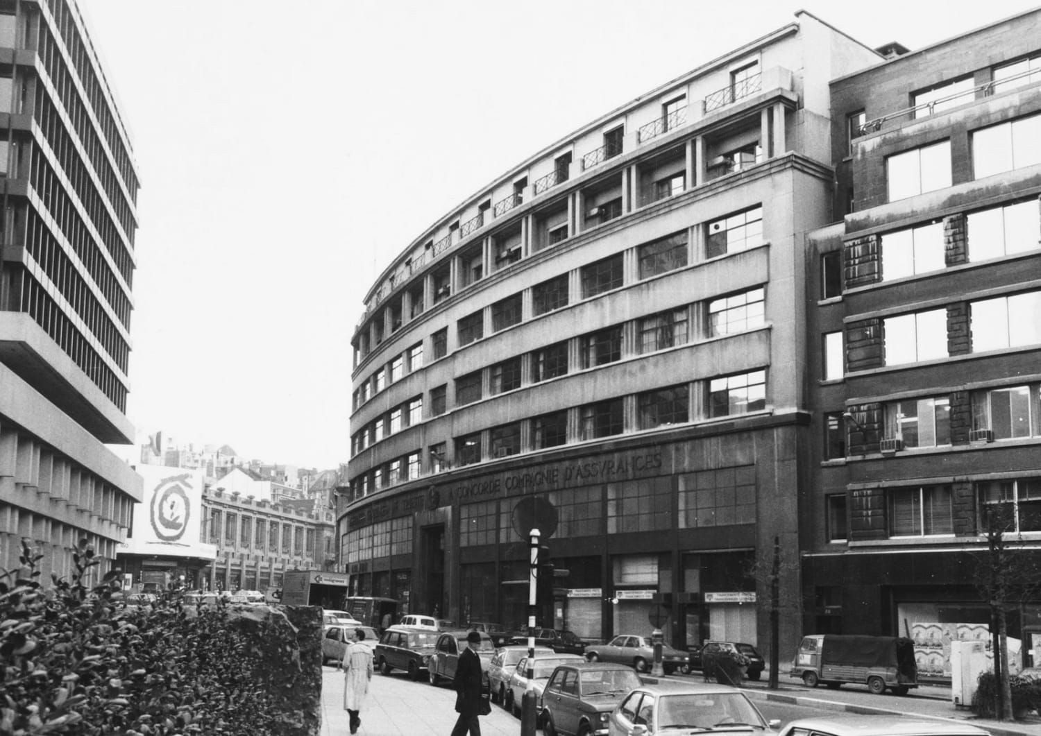 On this picture you can see BOZAR and the location of the current Bidules Store in 1980.