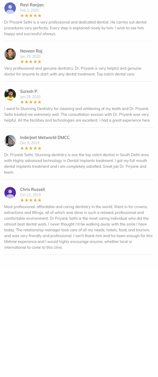 dental clients reviews