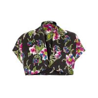 1stdibs1930s Black, Pink And Blue Floral Bolero Jacket