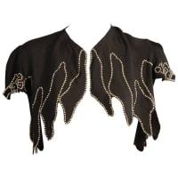 1stdibs1930s Rhinestone Studded Black Crepe Bolero