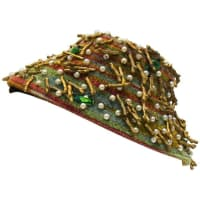 1stdibs1950s Anonymous Twig & Pearl Multi Beaded Fascinator Hat