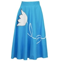 1stdibs1950s Turquoise Circle Skirt With Tulip Applique