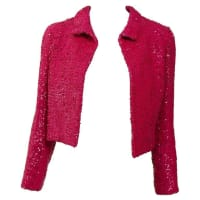 1stdibs1960s Curiel Italian Couture Shocking Pink Sequins Bolero Jacket