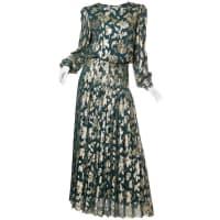 1stdibs1970s Gold Lamé Chiffon Gown
