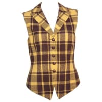 1stdibs1980s Mondi Plaid Menswear Style Waistcoat Vest