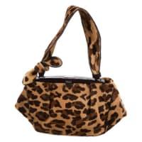 AlaiaAlaia Leopard Print Pony Skin Bag